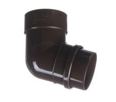 Колено 72˚ к водосточной системе Docke Lux (цвет шоколад)