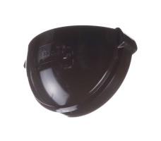Заглушка желоба для водосточной системы Docke Lux (цвет шоколад)