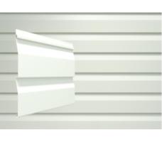 Виниловый сайдинг (наружный) Docke Dacha (белый)