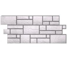 Фасадные панели Docke Burg (сайдинг под камень-платиновый цвет)