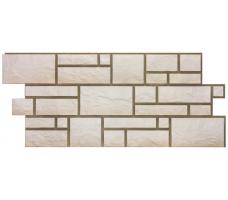 Фасадные панели Docke Burg (сайдинг под камень-белый цвет)