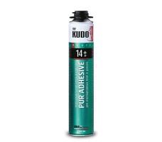 Клей-пена полиуретановый монтажный профессиональный всесезонный KUDO PROFF 14+ для утеплителя 1000 мл