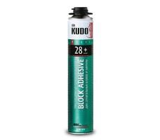 Клей-пена конструкционный полиуретановый профессиональный всесезонный KUDO PROFF 28+ для блоков 1000 мл