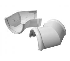 Угол желоба универсальный 135 градусов Технониколь (белый)